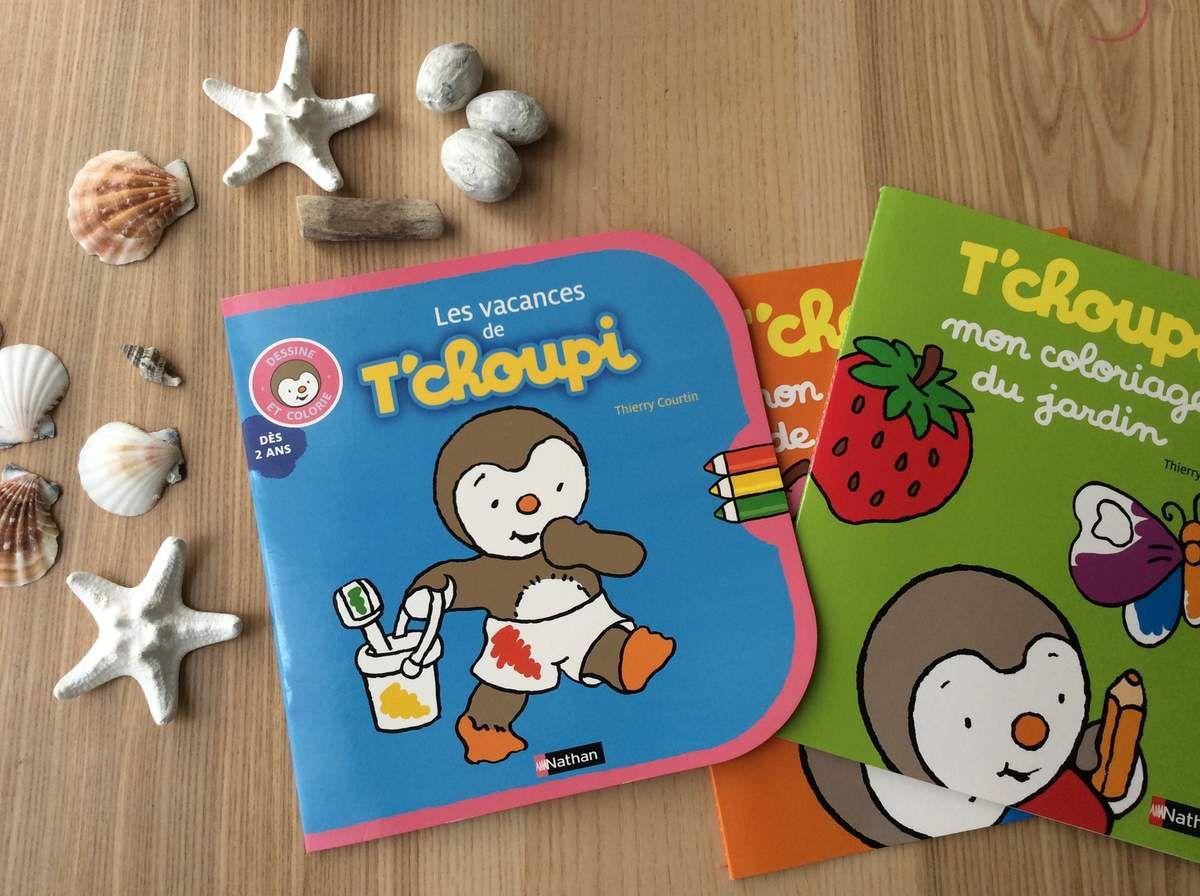 Les vacances de tchoupi. de Thierry Courtin. Éditions NATHAN.