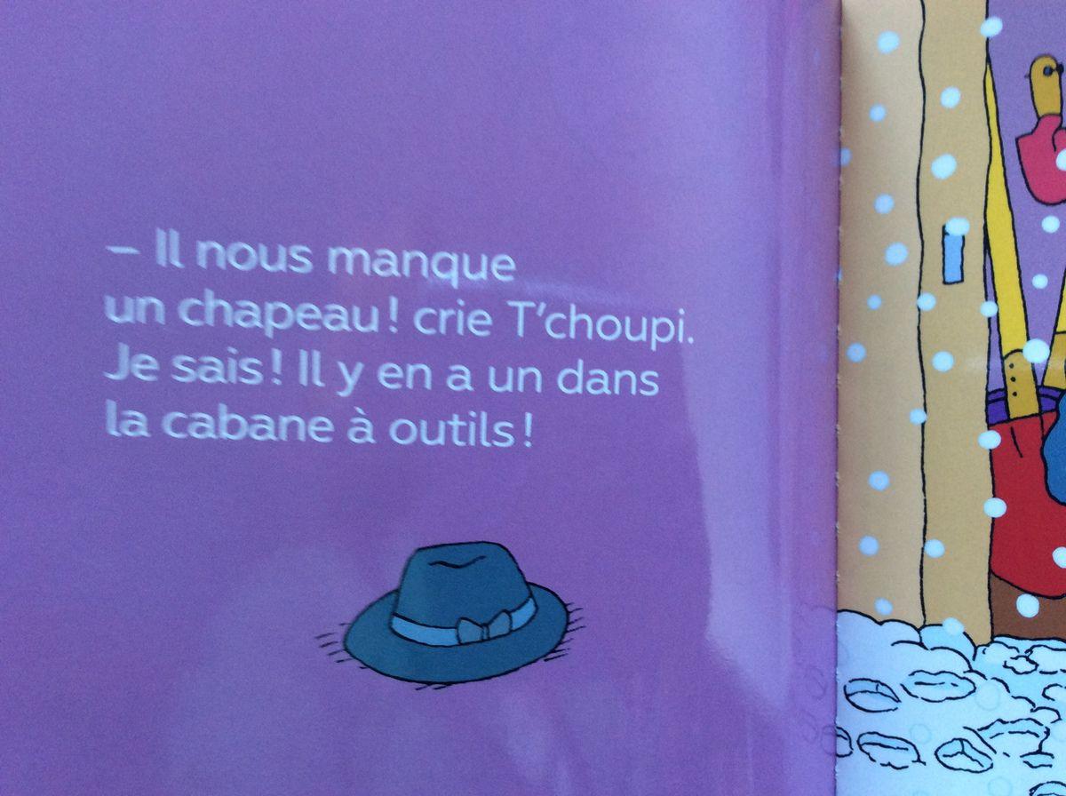 T'choupi fait un bonhomme de neige. Auteur Thierry Courtin.
