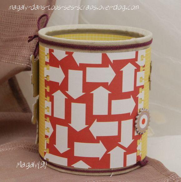 Pots à crayons {boîte de conserve}