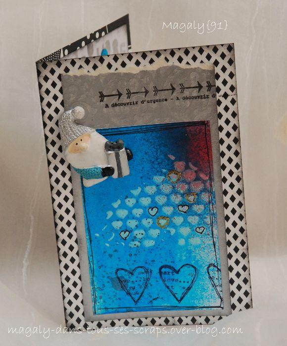 Série de Cartes {Noël} - Bleu, blanc et noir