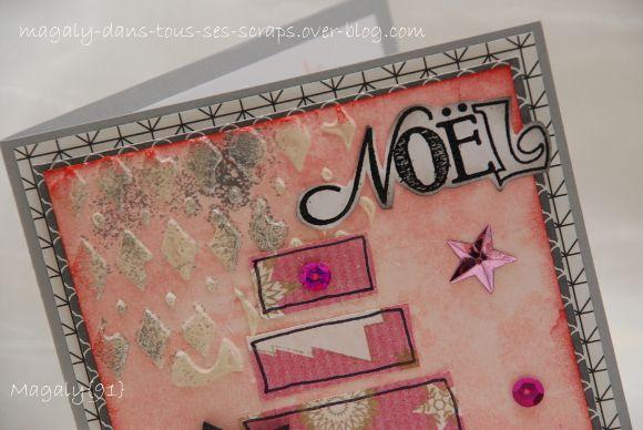 Série de Cartes &quot&#x3B;Noël&quot&#x3B; - Rose