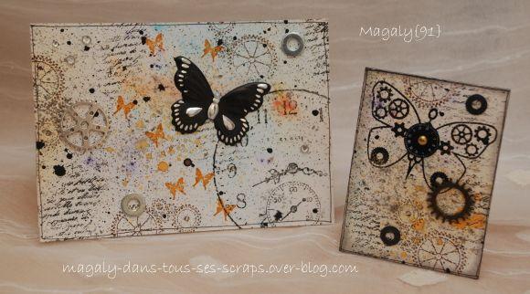 ATC Papillons + Carte