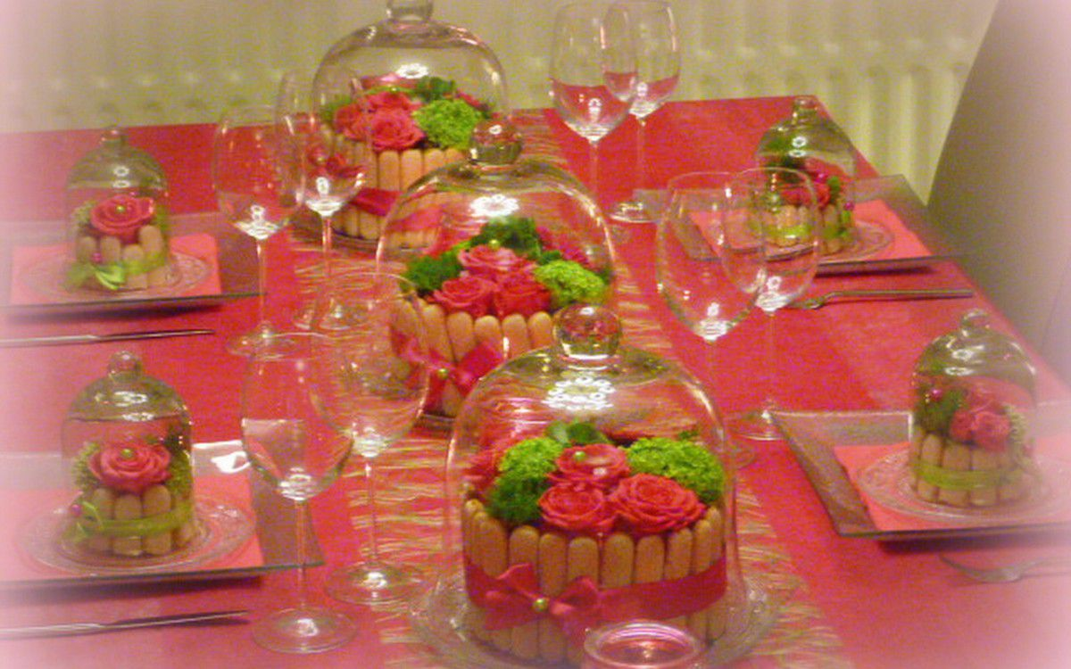 déco table bouboir et cloche!