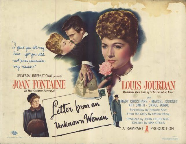 Lettre d'une inconnue... or Letter from an unknow woman