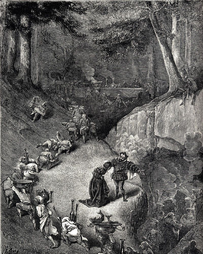 1ere photo: Illustration de 1867 de Gustave Doré - 2e photo: Riquet A La Houppe / Contes Du Gai Pierrot N°23. Grimm -  Illustrations ALICE HUERTAS
