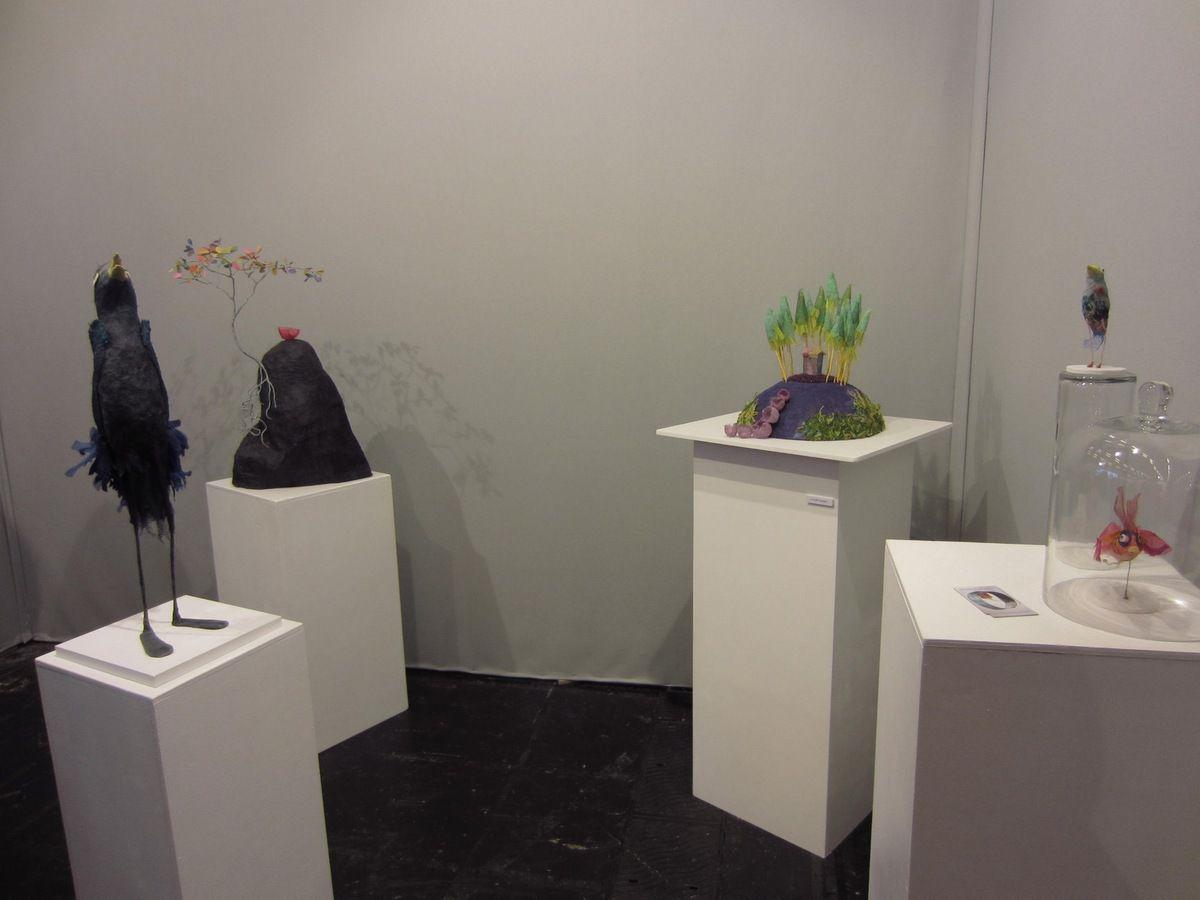 Les artistes en art textile au salon