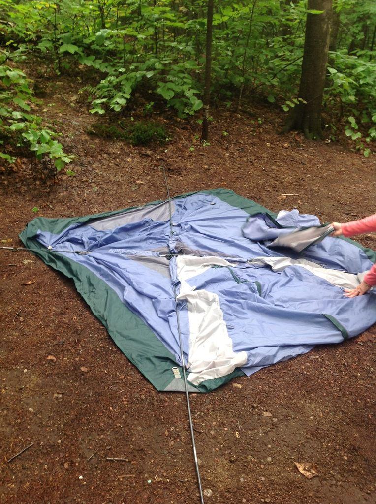 Le Mont-Tremblant en camping- pluie et soleil