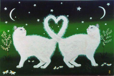 la ronde des chats, peintres