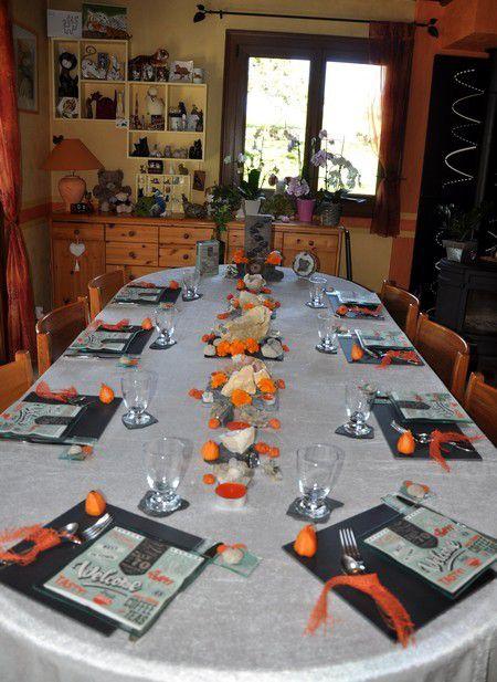 """ma table anniversaire """"minérale""""..."""