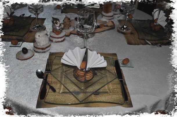 ma table neige et bois