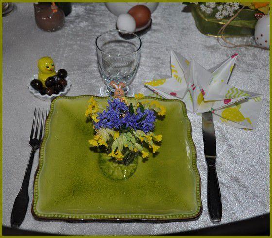 ma table de Pâques très &quot&#x3B;printanière&quot&#x3B;...