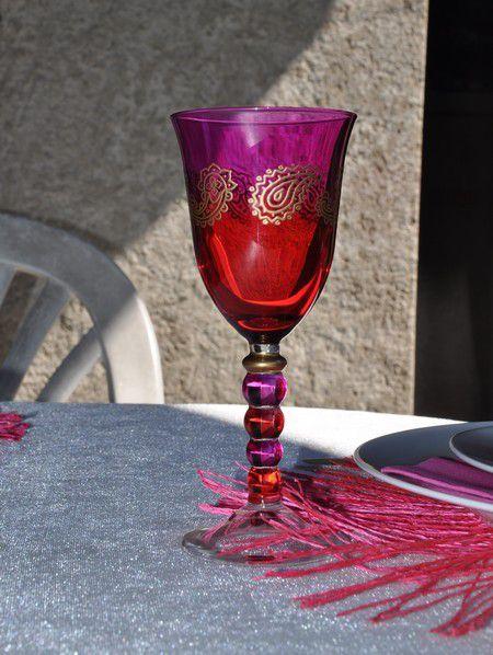ma table du rose pour l'anniversaire d'Anaïs