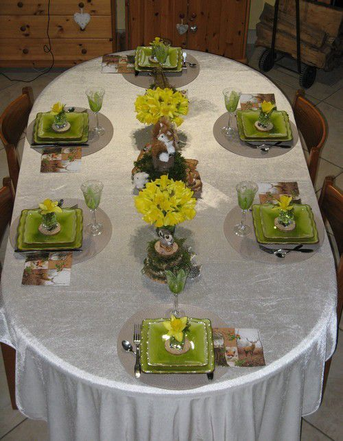 ma table un p'tit air de printemps
