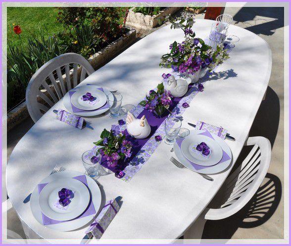 ma table de lundi de Pâques