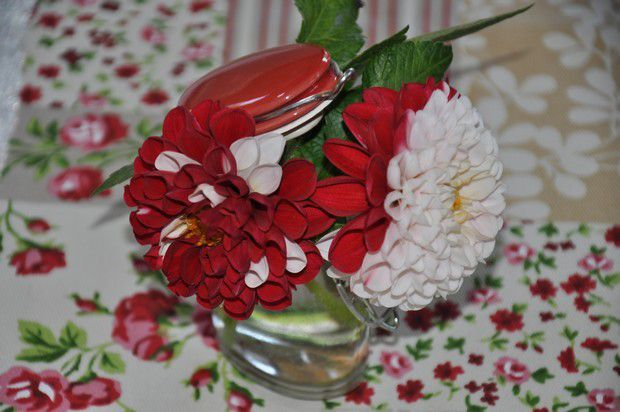 ma table dahlias en liberty
