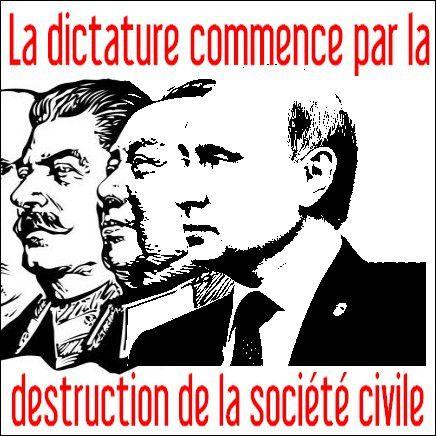 Russie - la dictature commence par la destruction de la société civile