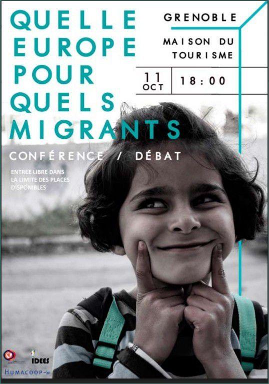 Colloque/Débats Grenoble - 11 oct. 2016 : Quelle Europe pour quels migrants ?
