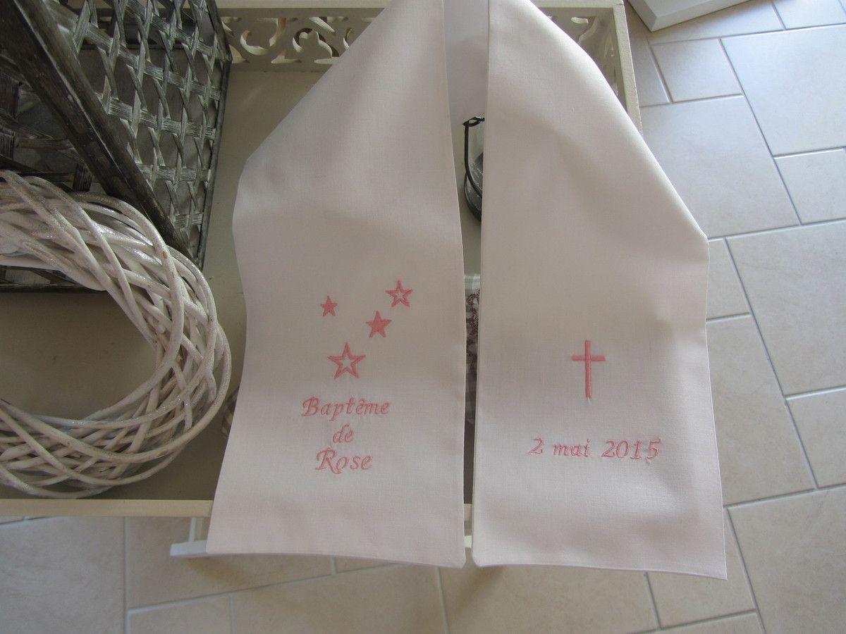 9433fd8e1b02 Echarpes de baptême   communion - Le Jardin des Créations