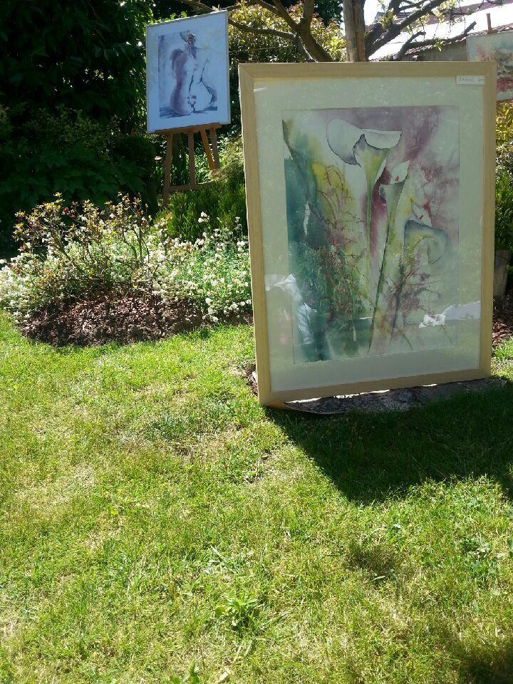 expo en DUO aux jardins de Neuville( 95)