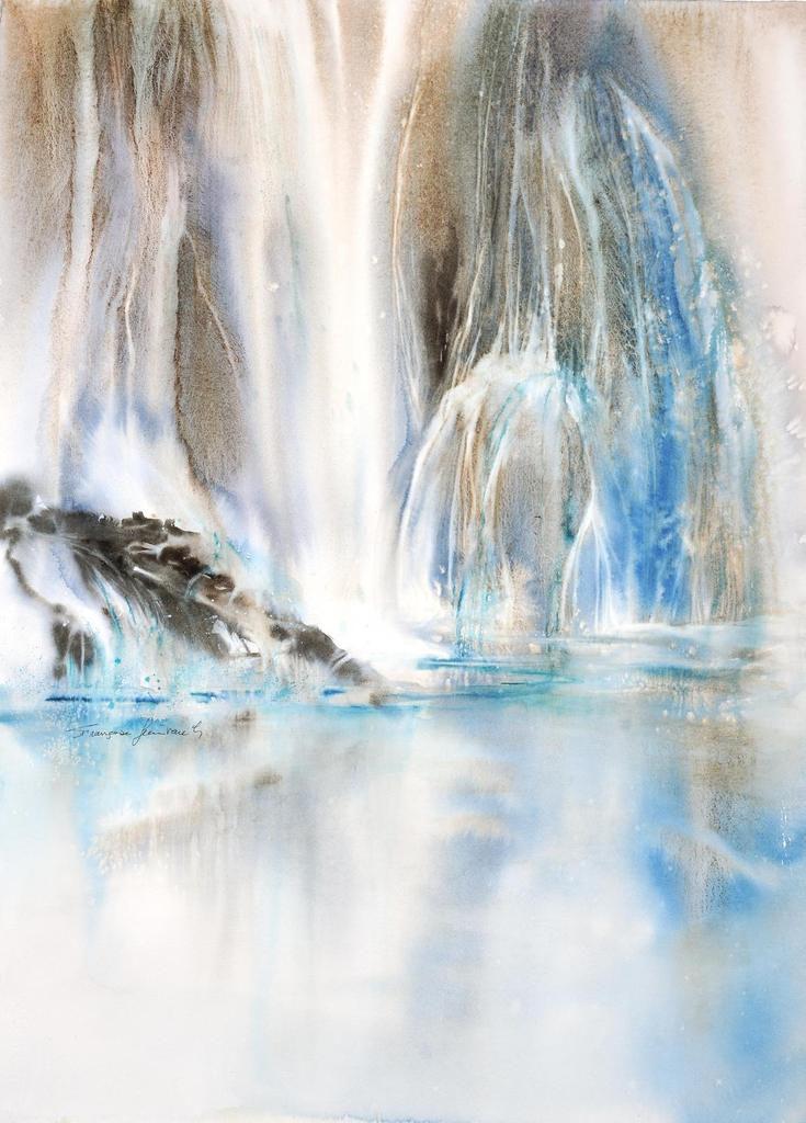 Aquarelle sur feuille magnifique de papier Arches !     56x76
