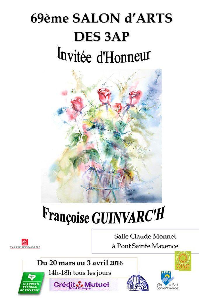 J'ai le plaisir de vous présenter une trentaine d'Aquarelles récentes et mon tout premier livre à l'exposition de printemps des 3AP à Pont-Sainte-Maxence.