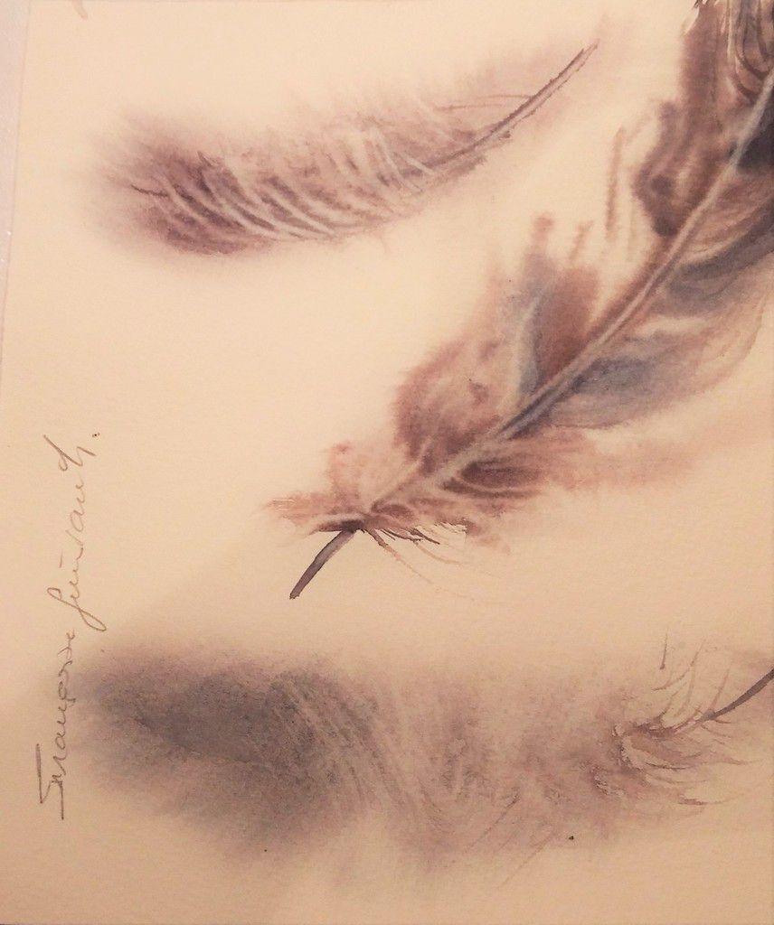 "aquarelle 20x20 sur Fabriano Artistico intitulée "" Renverser le ciel "" n°1"