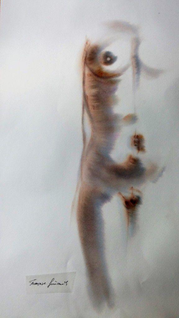 Aquarelle sur Fabriano Artistico (  43x73 ) Pose:15 minutes.