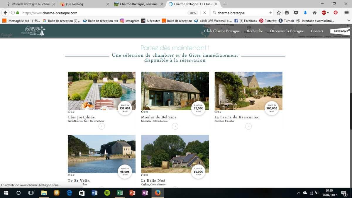 Charme-Bretagne, naissance du nouveau site