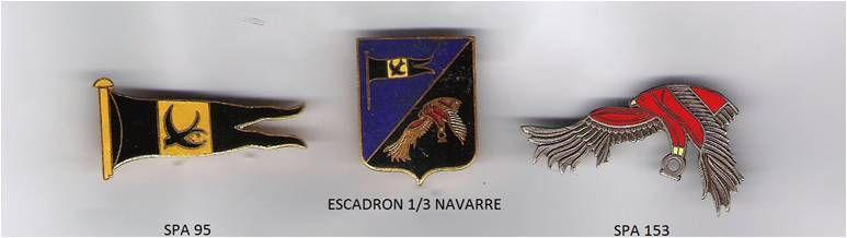Escadrilles de tradition du 1/3 Navarre (en 1962/1966) 1ère escadrille, SPA 95 « Le martinet », 2ème escadrille, SPA 153 « Le gypaète portant le sceau égyptien ».