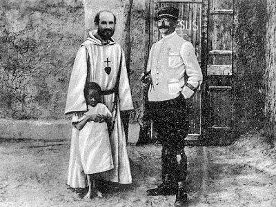 Charles de Foucauld et le général Laperrine.
