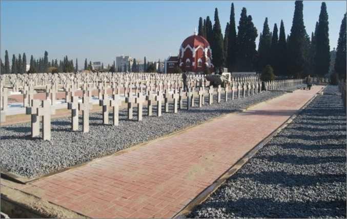 Le cimetière militaire français de Salonique, en Grèce.