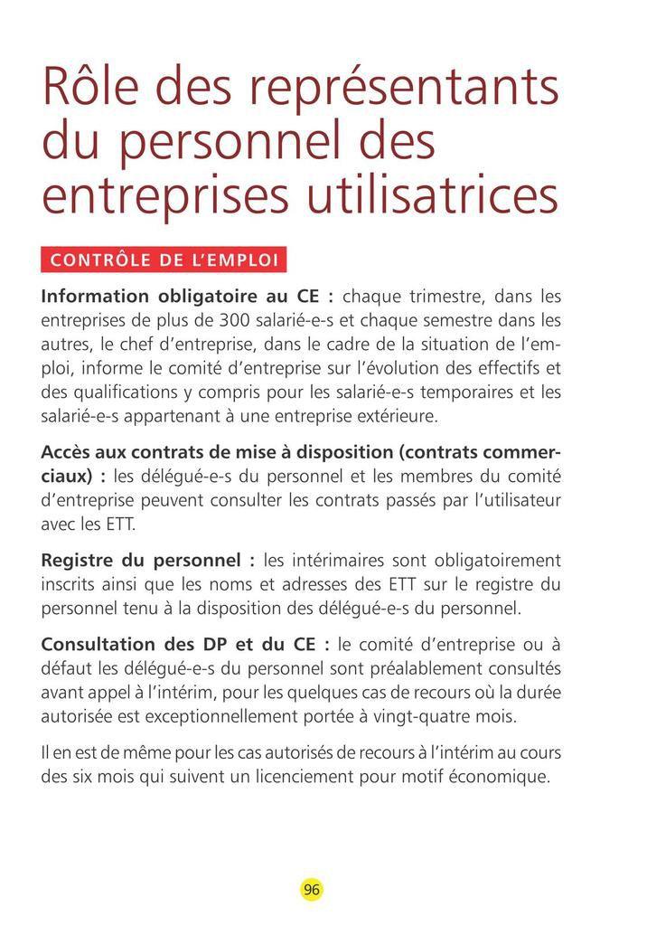 Guide CGT des droits de l'intérimaire