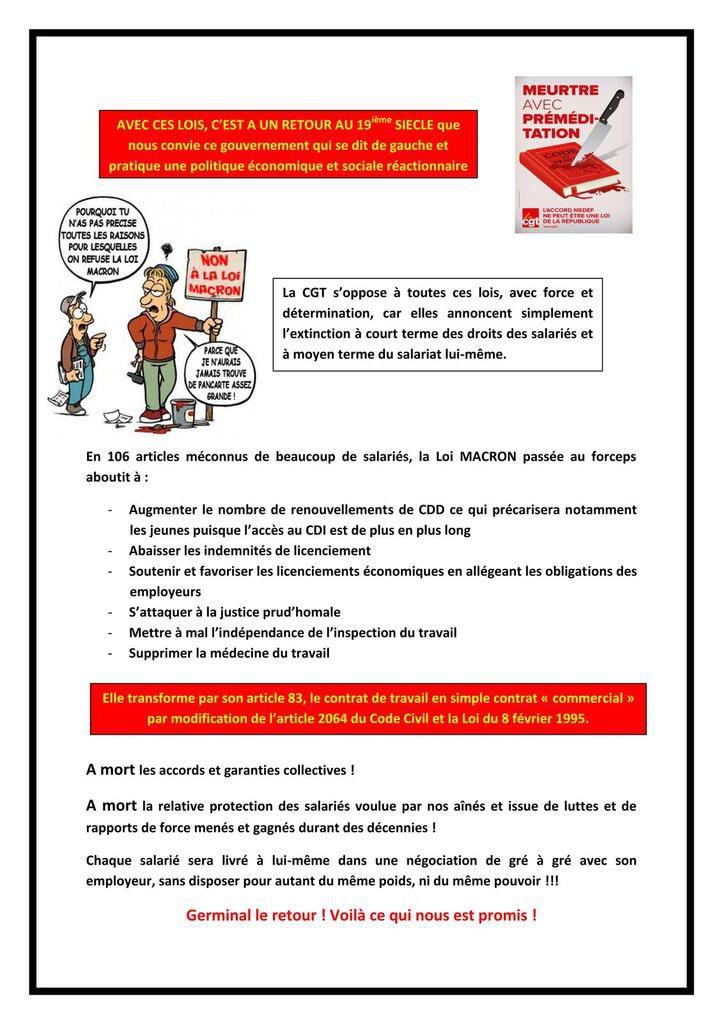 Loi Macron et Rebsamen : mort annoncée du salariat et des instances du personnel - Indignez-vous !!