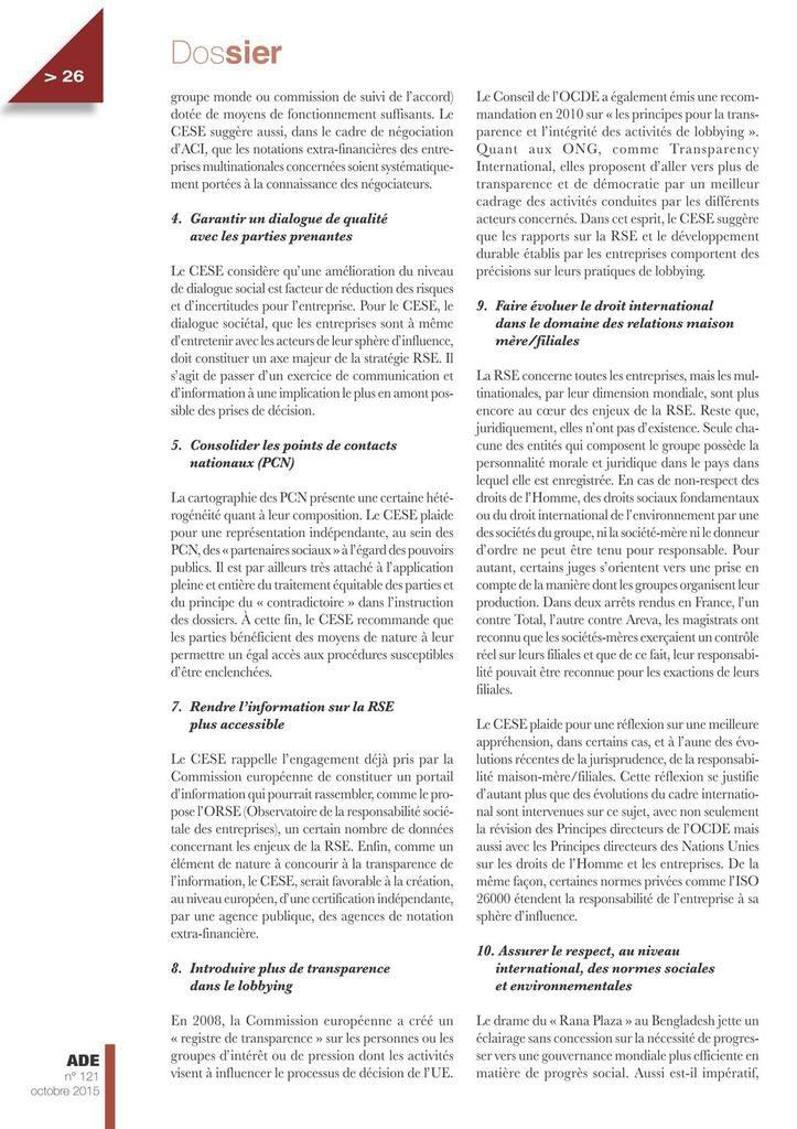 Analyses et documents économiques CGT oct. 2015