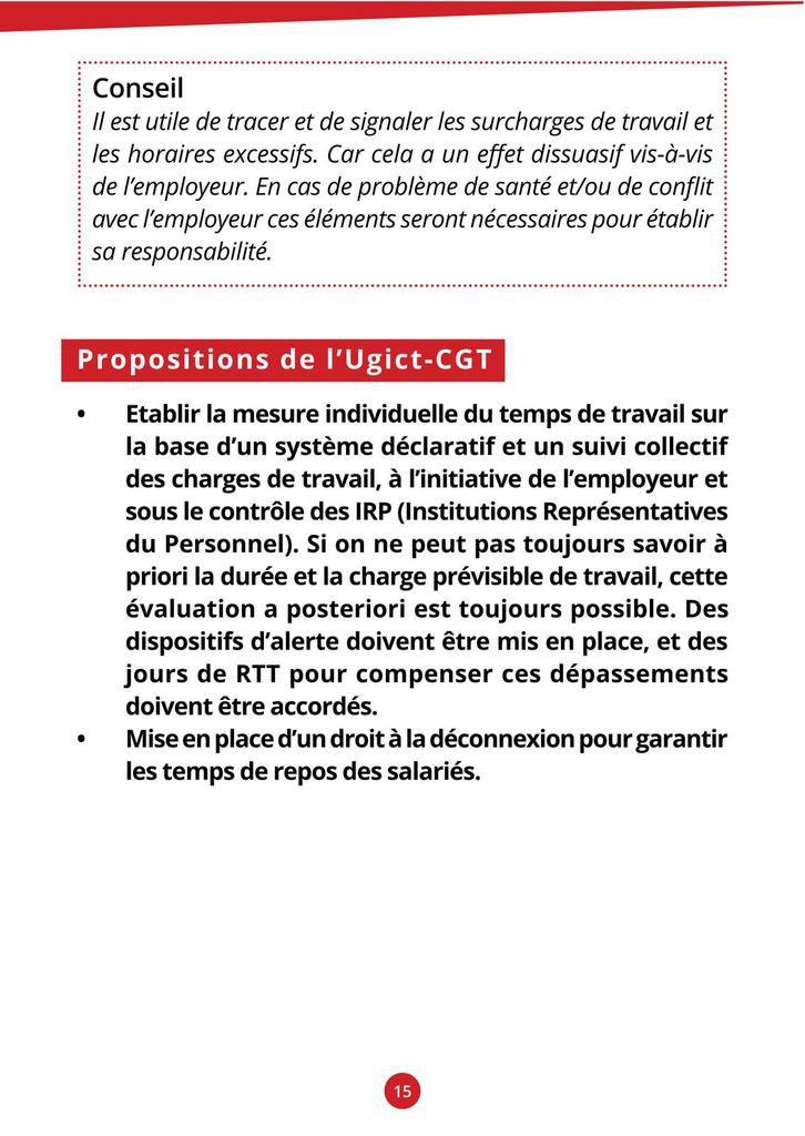 Guide pratique CGT des droits des forfaits jours 2016