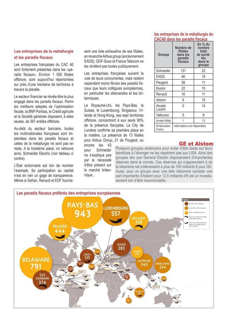 Brochure CGT évasion fiscale & paradis fiscaux