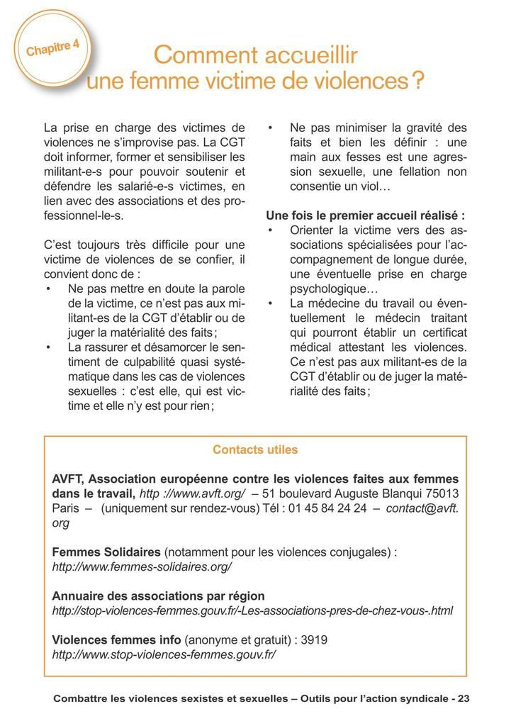 Guide CGT combattre violences sexistes & sexuelles