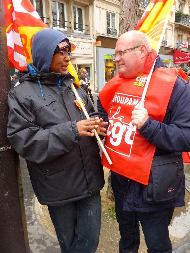 Mobilisations 9 mars contre la loi travail - 450 000 manifestants - CGT Groupama dans les rues de Paris