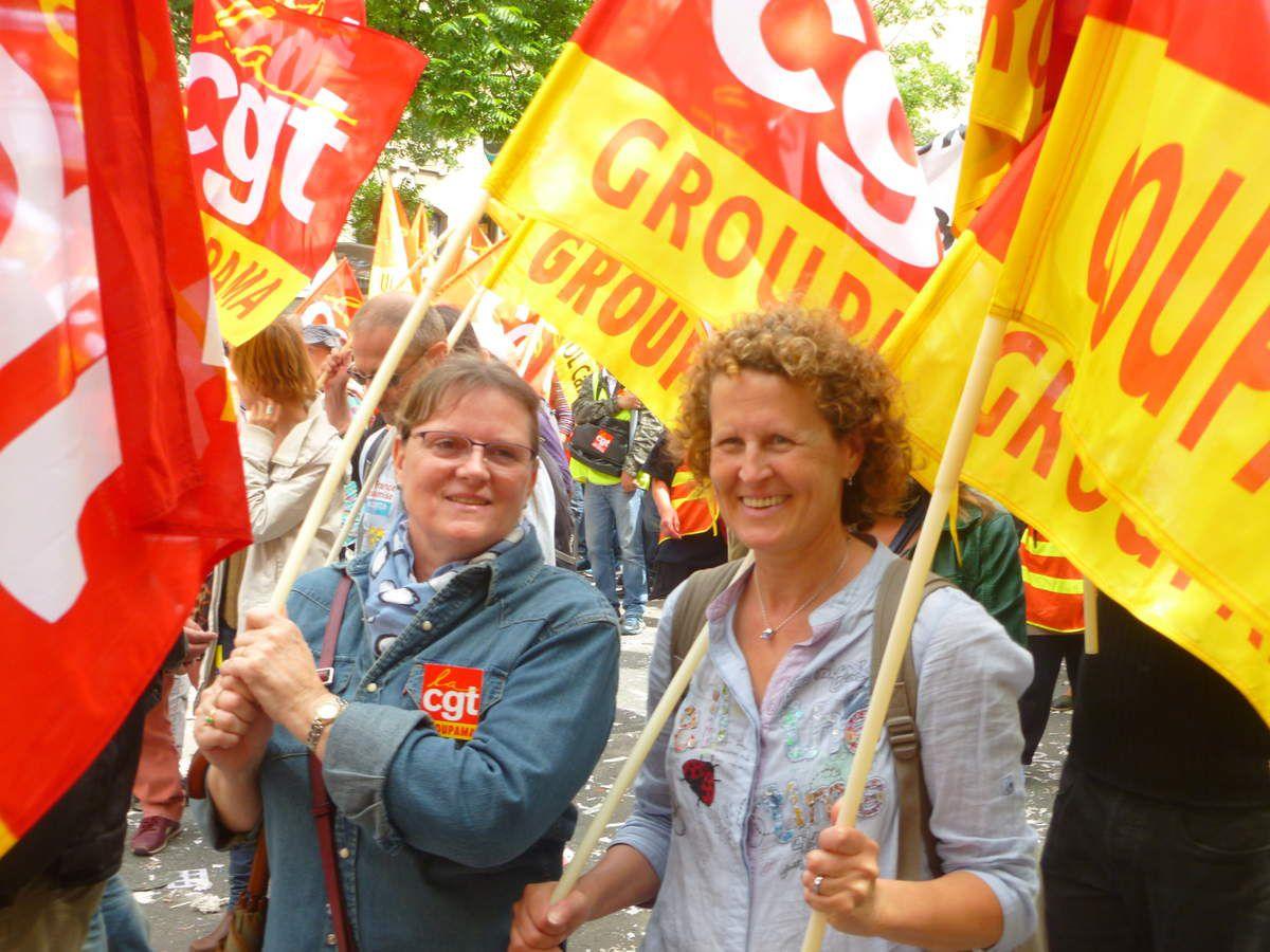 ENORME le 14 juin, 1,3 millions de manifestants en France, les Groupama motivés contre la loi travail !!