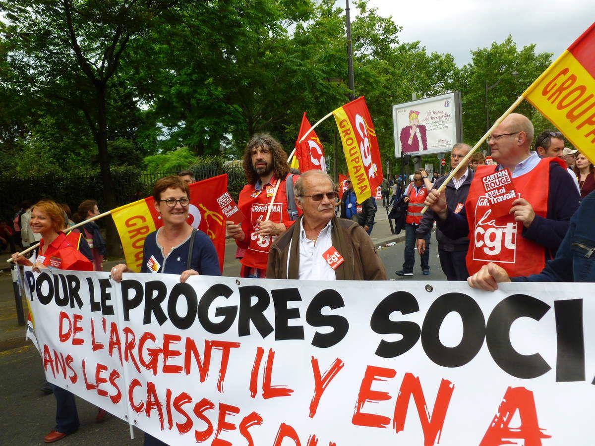 28 juin - La CGT Groupama toujours déterminée contre la loi travail - 200 000 manifestants en France