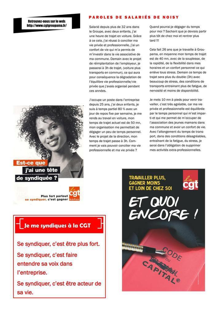 Déménagement Nanterre - Propositions CGT, situation, conditions de travail, transport, paroles de salariés...