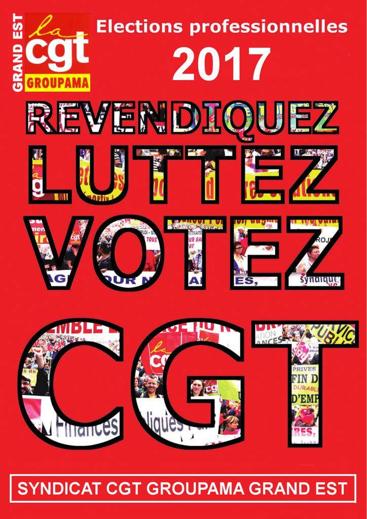 Elections Groupama Grand Est - VOTER pour une équipe dynamique, revendicative, en proximité avec les salariés !!