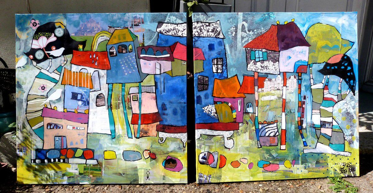 NEARBY LES CABANES, 180x90 cm