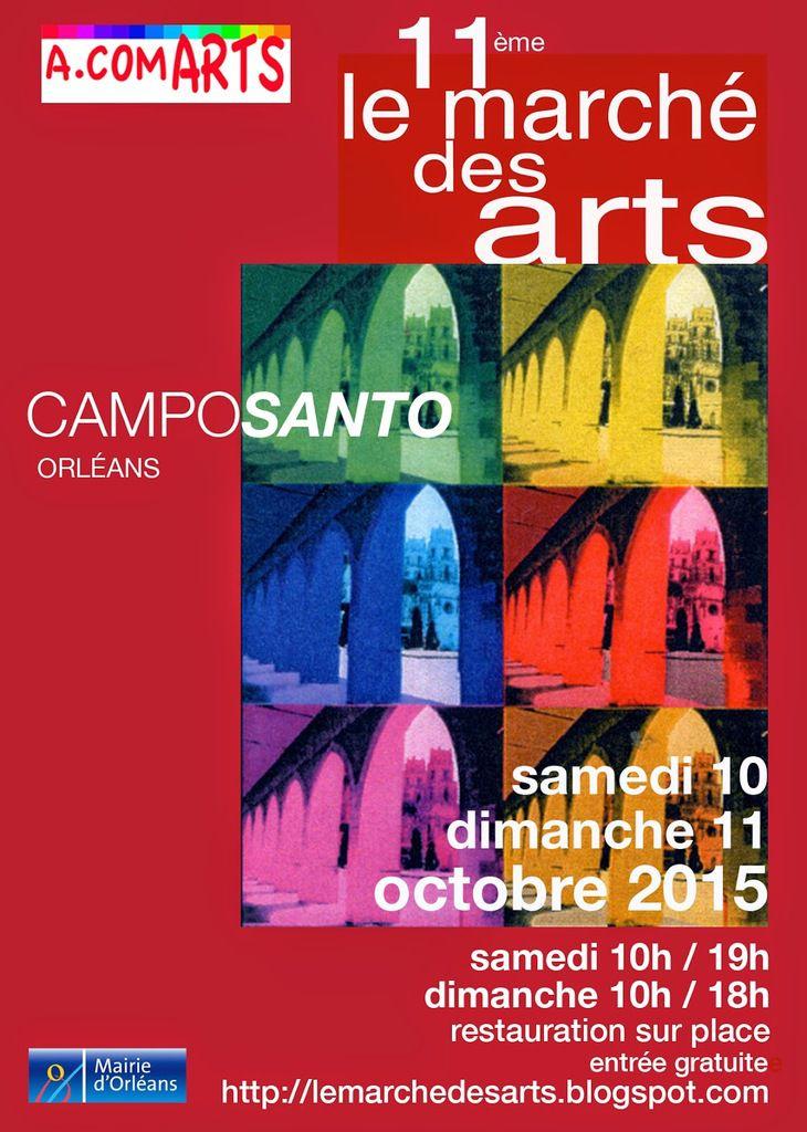 Zébulon hors les murs, Marché des Arts d'Orléans au Campo Santo les 10 et 11 octobre 2015