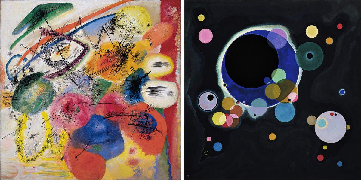 Kandinsky &quot&#x3B;Several circles&quot&#x3B; reédition en velours