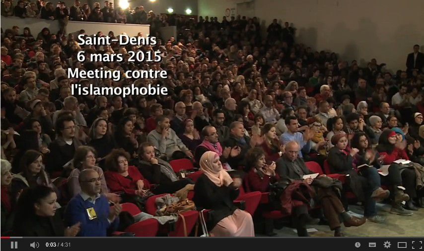 Meeting contre l'islamophobie 6 mars 2015