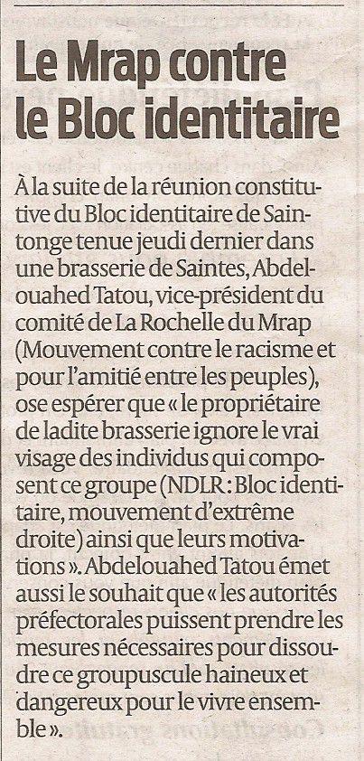 La Rochelle : le MRAP contre le bloc identitaire