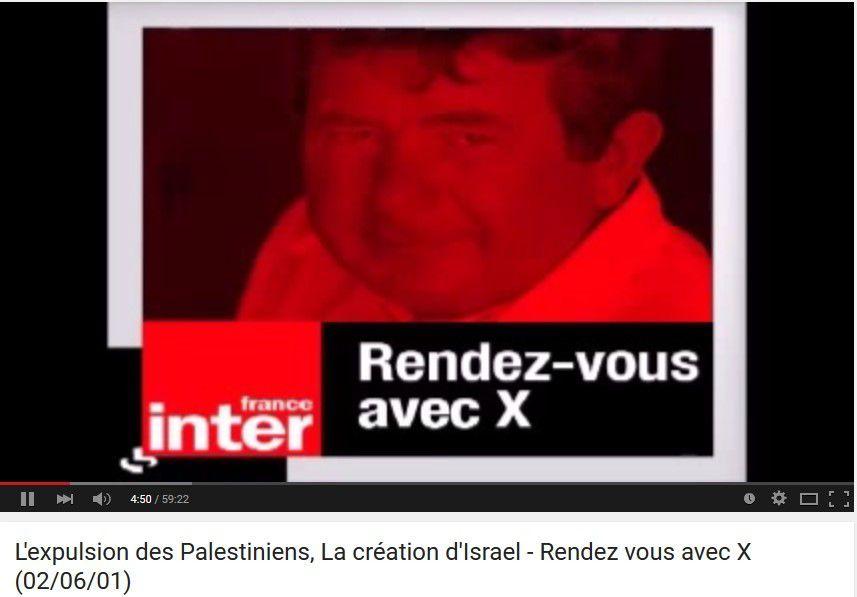 L'expulsion des Palestiniens, La création d'Israël - Rendez vous avec X (02/06/01)