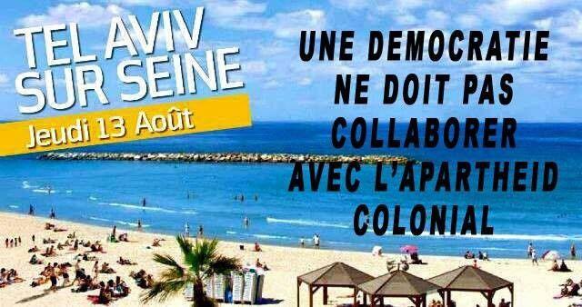 """""""Tel Aviv-sur-Seine"""": Non au blanchiment par la Mairie de Paris de l'apartheid israélien"""
