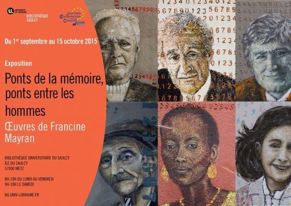 Francine Mayran à Metz du 9 septembre au 15 octobre 2015